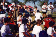 Rangers listening to a speaker